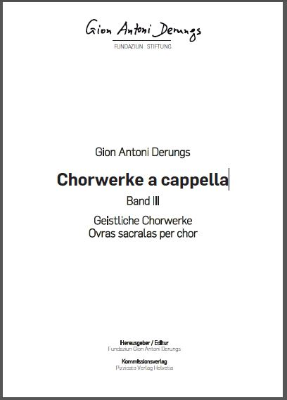 Gion Antoni Derungs Chorwerke a cappella, Cover